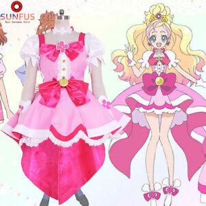 Halloween Women s Go! Princess PreCure Cure Flora Party Dress ... 238ef9112528