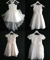Blumenmädchen Kommunionskleid Festkleid Hochzeit Mädchen Kleid weiß