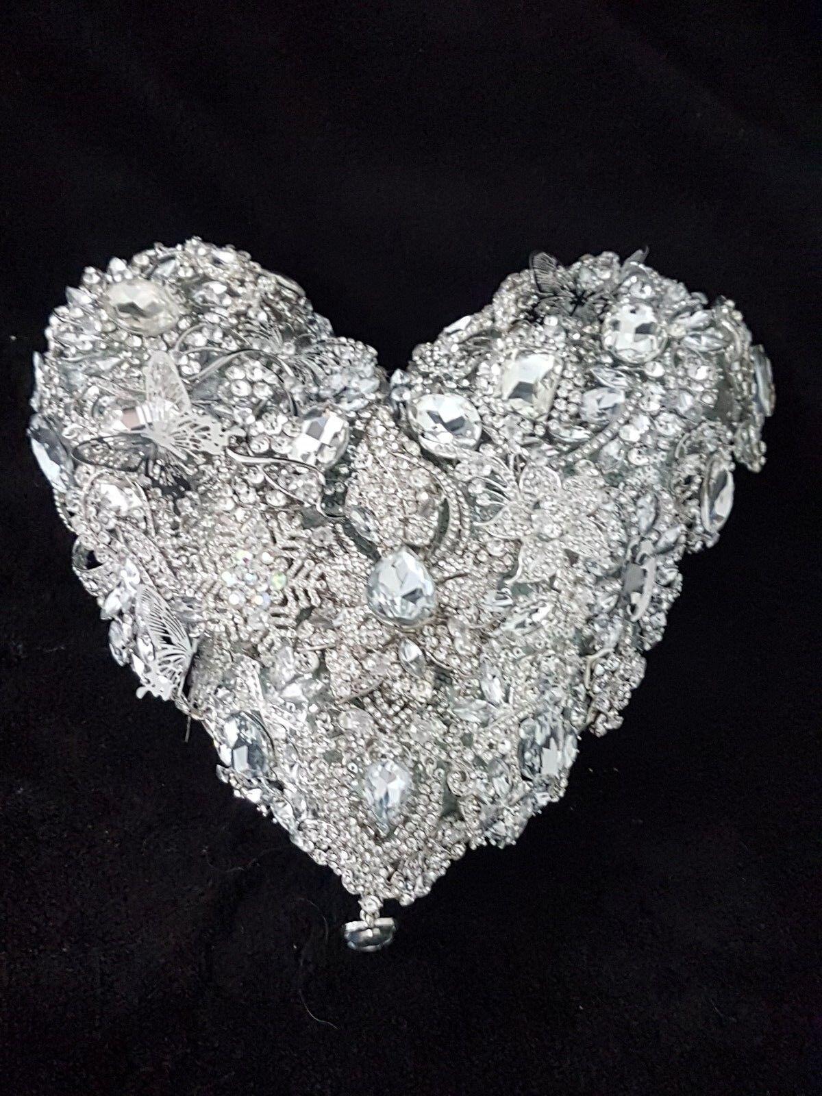 Heart brooch bouquet Wedding brides brooch Bouquet 6
