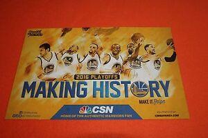 Cheer-Card-Golden-State-Warriors-16-Authentic-Fan-Playoffs-Rockets-New-SGA
