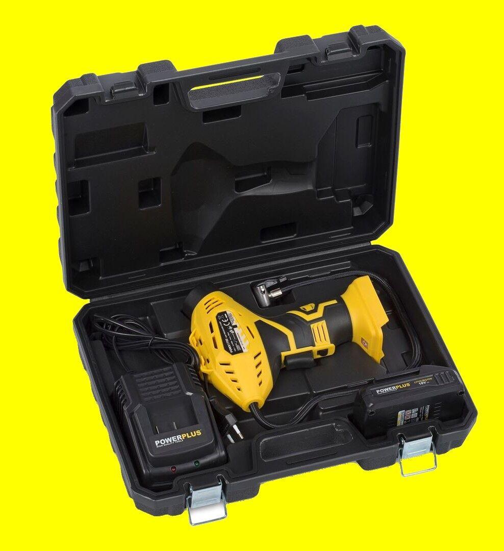 Powx1700 Liion Batteria Pompa Ad Aria Elettrica Palla Pompa Bicicletta Pneumatici palline LED NUOVO