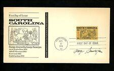 US FDC #1407 Samerjan Designer Autograph Cachet South Carolina Statehood 1970 SC