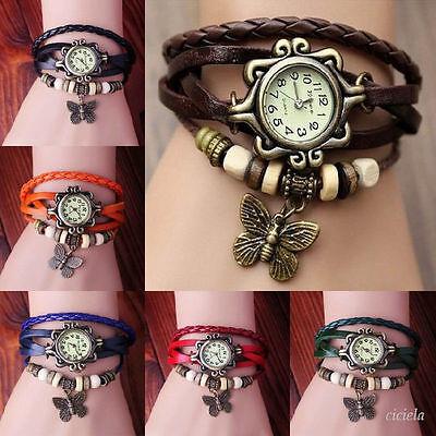 Fashion Butterfly Bracelet Watch Quartz Movement Wrist Watch for Girl Women Lady