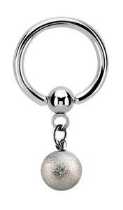 Intim Piercing Schmuck Klemm-Ring BCR wählbar 1,2mm oder 1