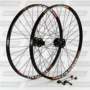 Stans-Flow-EX-26-034-Shimano-XT-M756-hub-DT-Swiss-Mountain-Bike-Wheel-Set-MTB