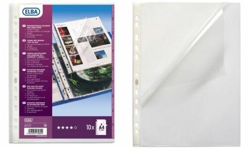 10x Elba Prospekthülle Sichthülle glasklar A4 Kunststoff Eurolochung Folie