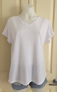 New-White-Short-Sleeve-V-Neck-Top-From-Ice-Size-XS-6