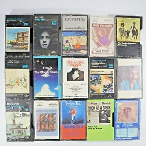 Lot Of 80s 90s Cassette Tapes Pop Rock Billy Joel Eric Clapton Santana Jim Croce
