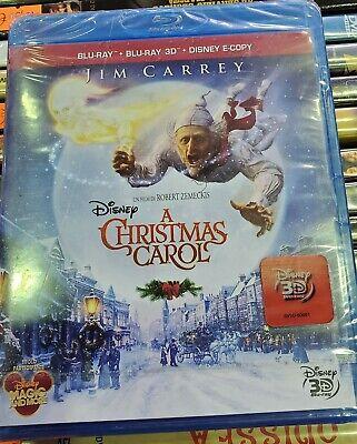 Blu-ray + Blu-ray 3d + E-copy A christmas Carol Nuovo JIM CARREY | eBay