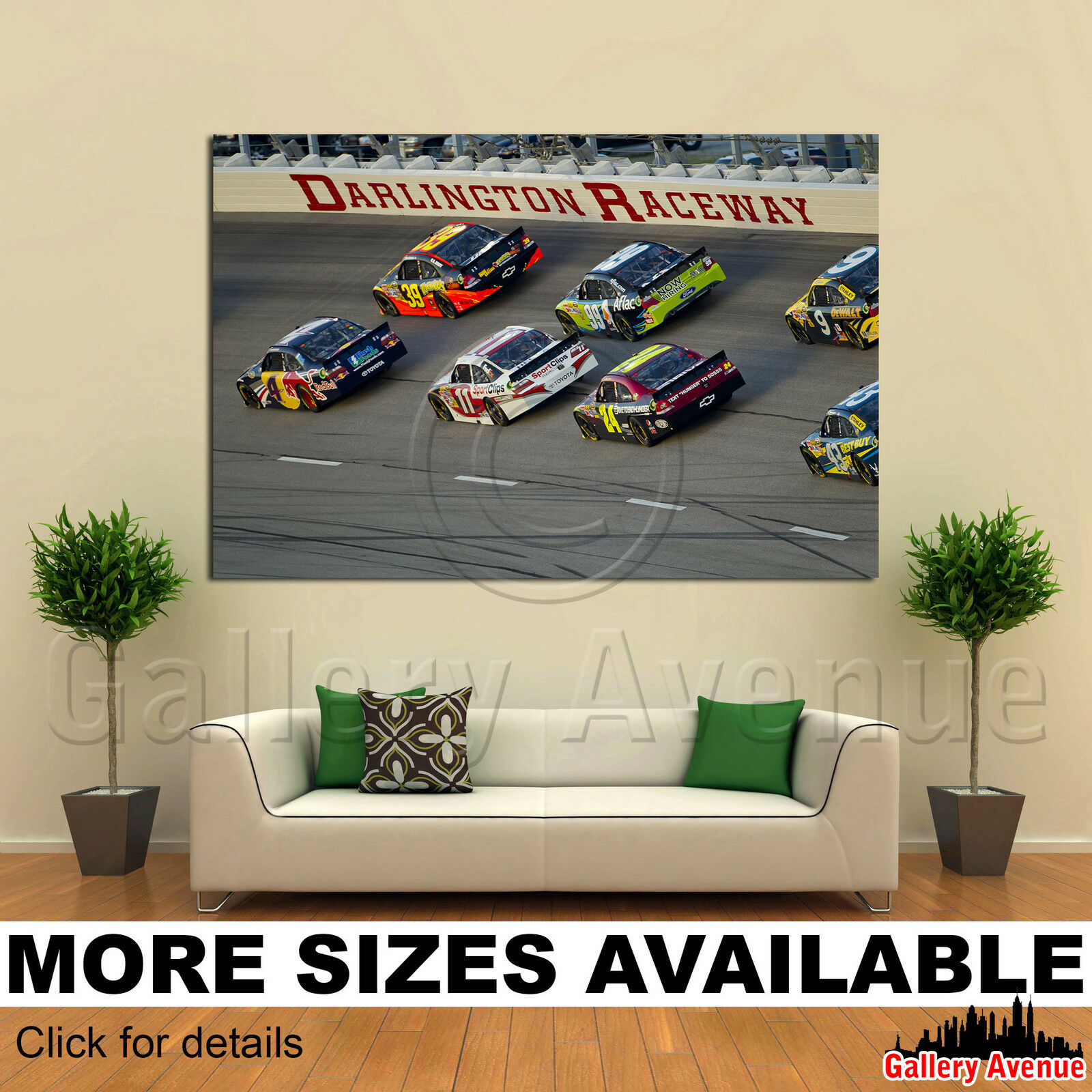 A Wall Art Canvas Picture Print - NASCAR Showtime Southern 500 3.2
