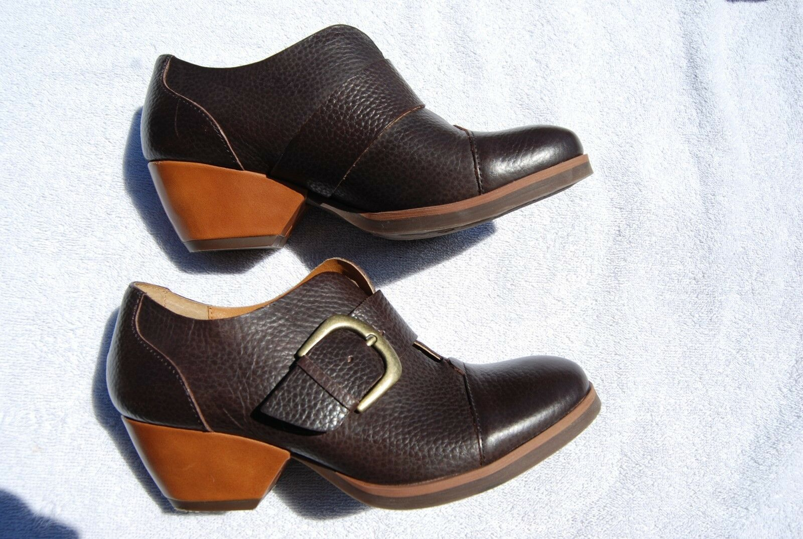 Dark Braun Leder KORKS By KORK EASE PUmps 6 w/Strap & BIg Buckle 6 PUmps M 2c58c7