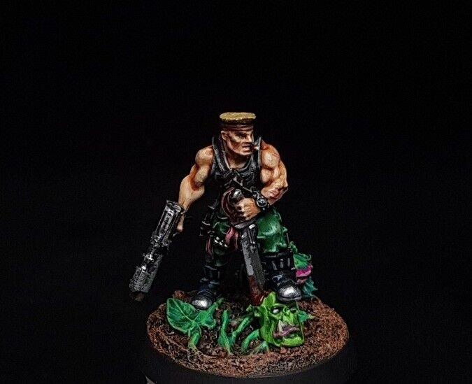 Sly Marbo Astra Militarum Comisión magníficamente pintado warhammer 40K