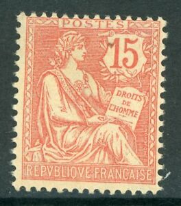 France 1902 Mouchon Redrawn 15¢  Pale Red  SG 291 Mint P185 ⭐⭐⭐⭐⭐⭐