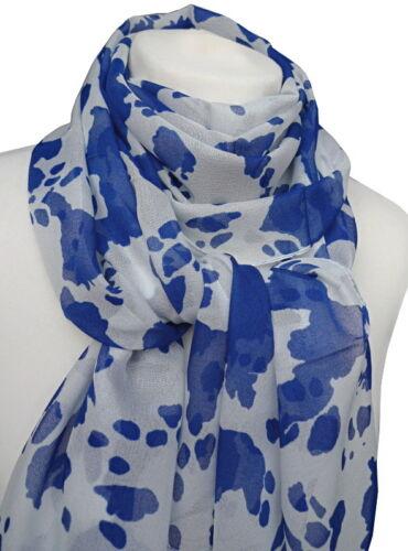 leichter luftiger Damen Schal Camouflage Muster weiß blau Damenschal 934
