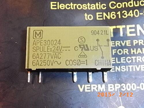 Ape30024 compatible v23092-a1024-a301 hf41f//24-zst Coil Voltage 24vdc 6 A 250 V