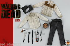 "1/6 Scale The Walking Dead Rick Cloting Set W Head For 12"" Male Figure Body Doll"