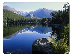 Tranquil Lake Computer Mouse Mat Christmas Gift Idea, W-2M