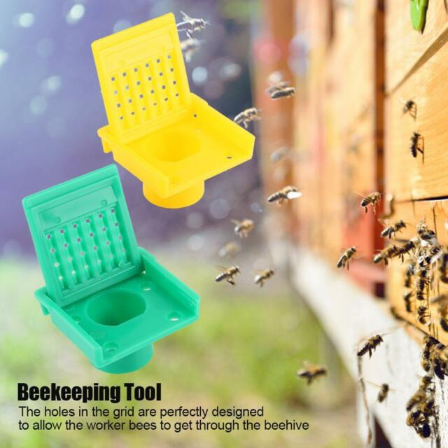 2PCS 8 Holes Bee Hive Beehive Yellow Nest Door Gate Anti-run Beekeeping Tool