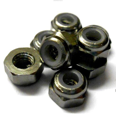 T10055T 1//10 Scale RC Car Alloy M3 3mm Thread Nylon Lock Nuts x 8 Titanium