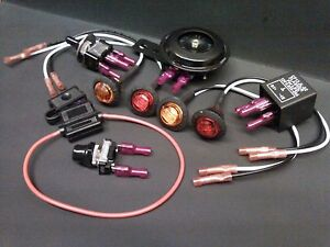 DIY Turn Signal Kit - Horn LED Lights Toggle Switch on Fuse w ... Signal Rocker Switch Wiring Diagram on 4 prong toggle switch diagram, 5 pin rocker switch diagram, rocker toggle switch hook up, rocker switch cable, 9 volt battery diagram, 3 prong switch diagram, 3 position toggle switch diagram, on off on switch diagram, rocker wall switch, forward reverse rocker switch diagram, rocker switch lights, rocker switch schematic,