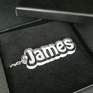 Plastic Keychain Gift Box Boxed Present Personalised Car Numberplate Keyring