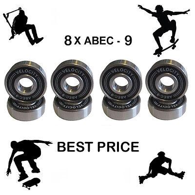 Abec 11 608 Wheel bearing Skateboard stunt scooter Quad inline Roller skate 9 7