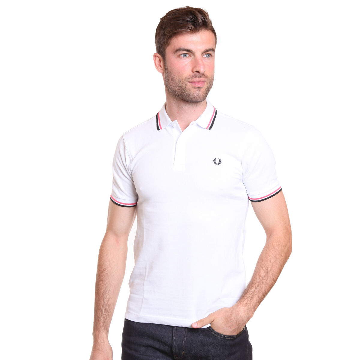 Fred Perry Men's Polo with Twin Tip Sizes  XL Slim Fit