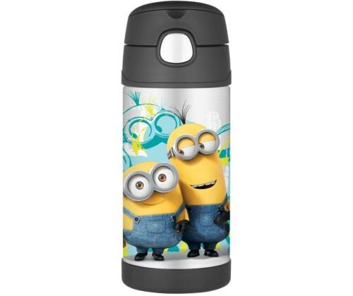 Thermos Funtainer Vacuum Insulated Stainless Steel Bottle 12 oz// Minions