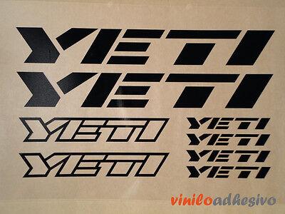 Pegatina Sticker Vinilo Yeti Kit Bicicleta Bike