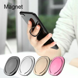 Metal Bracket Rotation Finger Ring Mobile Phone Stand Car Mount Magnetic