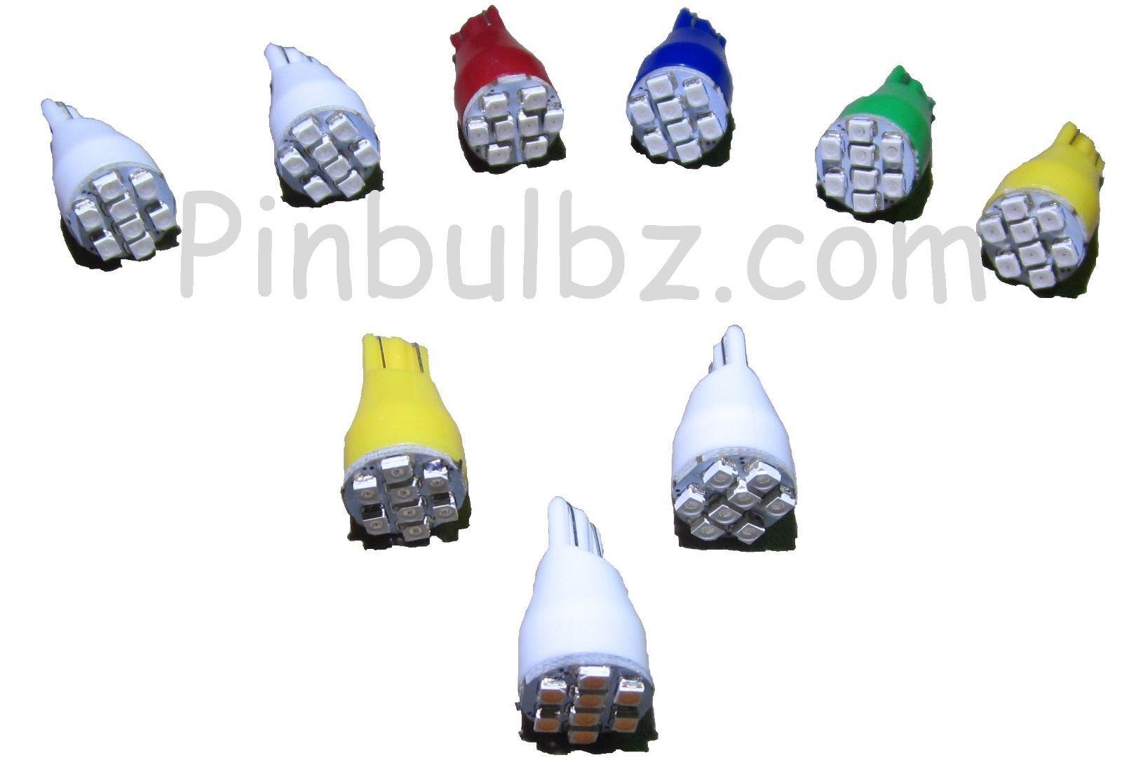 Flipper Ampoules Led 100pcs Jaune  2301cmUltra Brillant   8LED 12v Compensé  magasin fashional à vendre