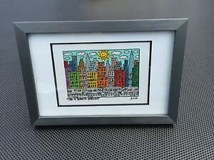 RIZZI-Original-Farblithographie-034-THE-A-TRAIN-TO-HARLEM-034-3D-Vorlage-gerahmt