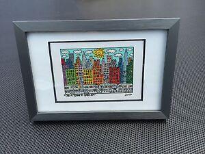 RIZZI-Original-Farblithographie-034-THE-A-TRAIN-TO-HARLEM-034-3D-Vorlage-gerahmt