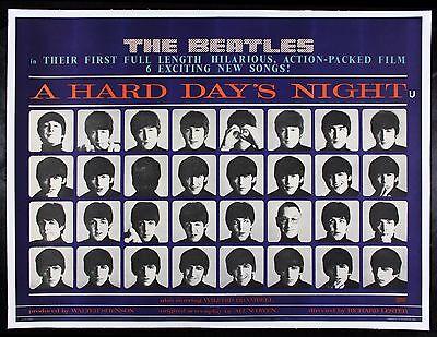 A HARD DAYS NIGHT ✯ BEATLES CineMasterpieces ORIGINAL UK MOVIE POSTER 1964 DAY'S