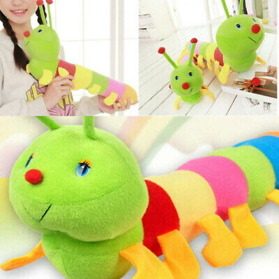 Lovely Colorful caterpillar Super Soft Dolls Stuffed Animal Plush Kids Toy 50cm