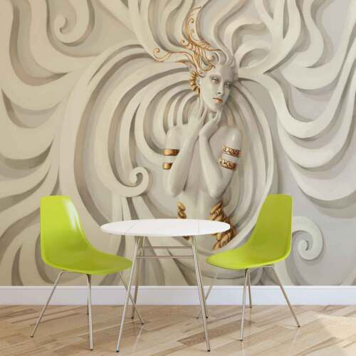 WALL MURAL PHOTO WALLPAPER XXL Sculpture Yoga Woman Swirl Greek  (3043WS)