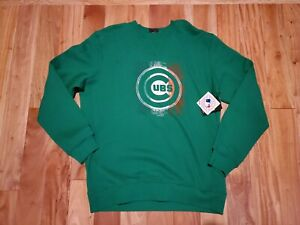 innovative design 8fd21 837a7 Details about Authentic New Era Chicago Cubs Green St Patricks day crewneck  sweatshirt XXL