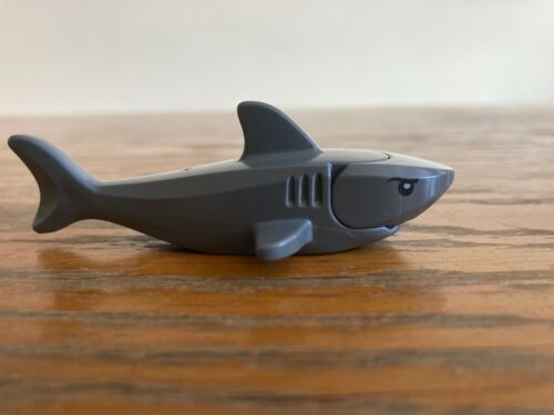 Figure Animal Used Free p/&p Lego City Shark Grey Fish Animal Minifigure