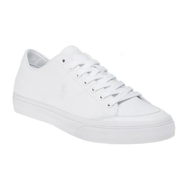 New MENS POLO RALPH LAUREN WHITE SHERWIN CANVAS Sneakers