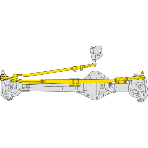 Steering Linkage Assembly-Tie Rod End Assembly Moog DS800981A