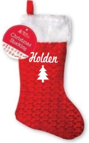 tree print your name Personalised kids Christmas stocking Merry Christmas