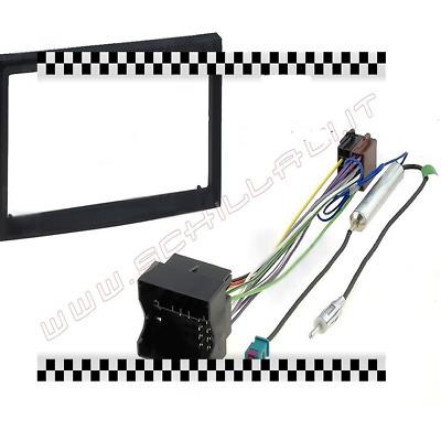 kit mascherina autoradio 2 din adattatore antenna iso. Black Bedroom Furniture Sets. Home Design Ideas