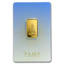 10 gram Gold Bar - PAMP Suisse Religious Series (Buddha) - SKU #94447