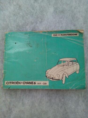 1976 PDF sett Libretto di uso e manutenzione Citroen Dyane 6 ediz