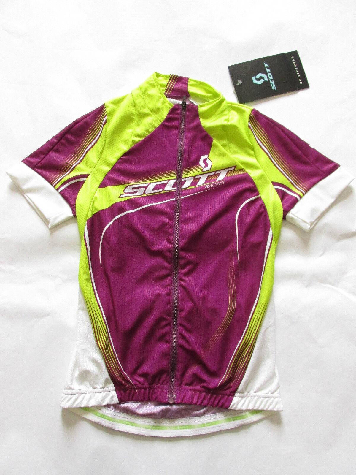 Scott Abbigliamento Ciclista damen RC Manica Corta Zip fino Al collo Maglione da