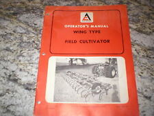 Allis Chalmers Wing Type Field Cultivator Owners Operators Manual