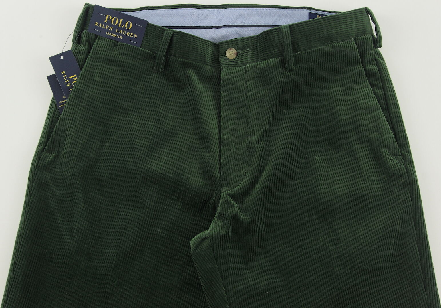 Men's POLO RALPH LAUREN Forest Green Corduroy Pants 32x32 32 NWT NEW WOW