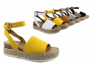 NEW-Women-039-s-Fashion-Casual-Open-Toe-Flat-Platform-Sandal-Shoes-Size-5-10
