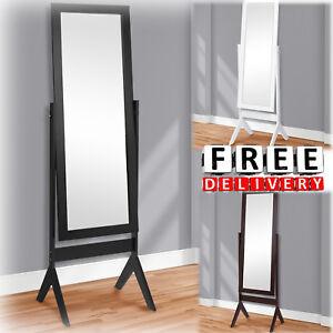 Image Is Loading Floor Mirror Cheval Dressing White Black Full Length