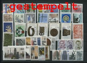 Germany-Federal-Frg-vintage-yearset-1987-Postmarked-Used-complete